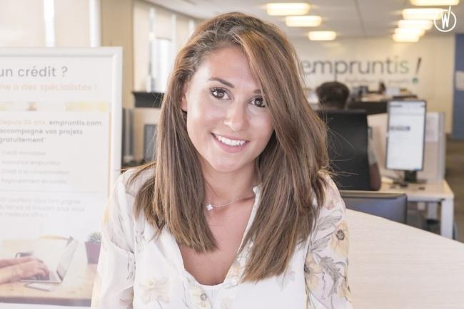 Rencontrez Ophélie, Courtier immobilier Empruntis.com - Compagnie Européenne de Crédit